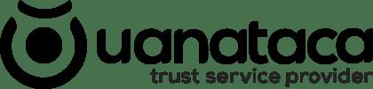 Logotipo de uanataca en blanco y negro
