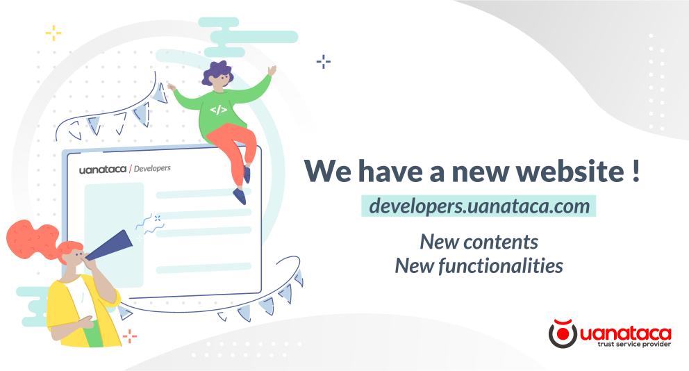 developers.uanataca.com: We have a new website !