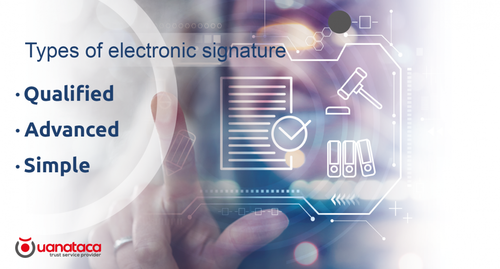 Qualified, advanced or simple electronic signature. Types of electronic signatures and their differences
